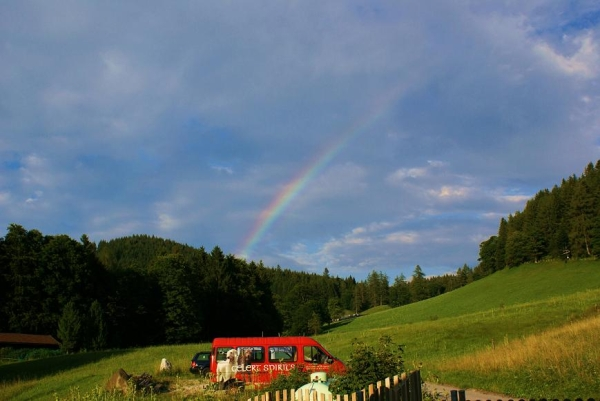 Regenbogen über dem Thannlehen